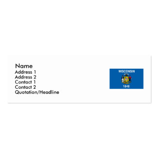Wisconsin State Flag Business Card Template