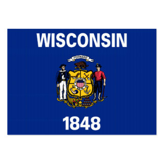 Wisconsin State Flag Business Cards