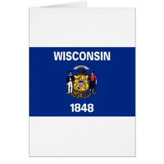 Wisconsin State Flag Card