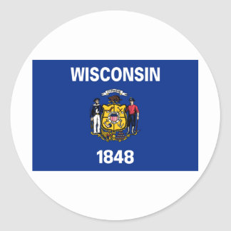 Wisconsin State Flag Classic Round Sticker