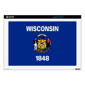 """Wisconsin State Flag Decal For 17"""" Laptop"""