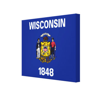 Wisconsin State Flag Design Canvas Print