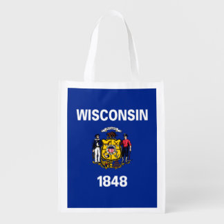 Wisconsin State Flag Design Grocery Bag
