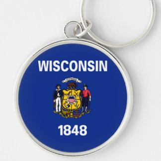 Wisconsin State Flag Design Keychain