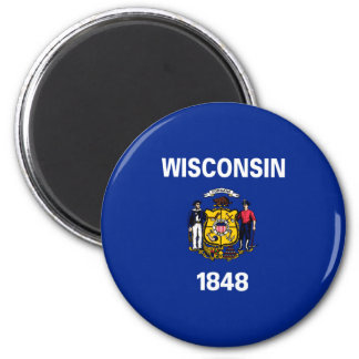 Wisconsin State Flag Design Magnet