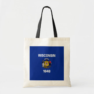 Wisconsin State Flag Design Tote Bag