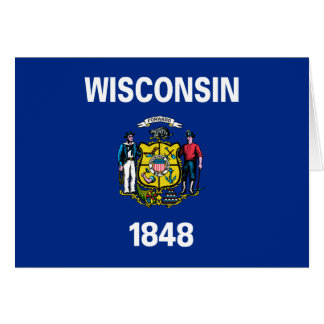 Wisconsin State Flag Greeting Card