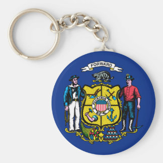 Wisconsin State Flag Keychains