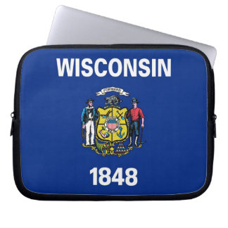 Wisconsin State Flag Laptop Sleeve