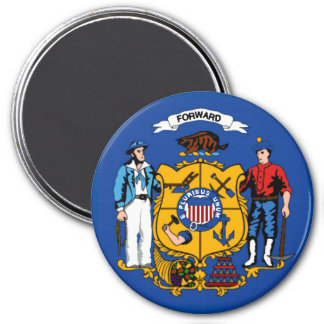 Wisconsin State Flag Magnet