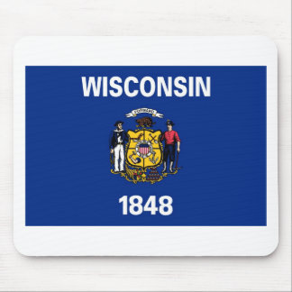Wisconsin State Flag Mouse Pad