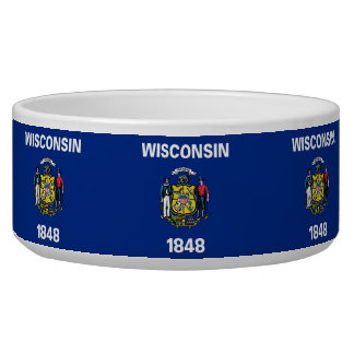 Wisconsin State Flag Pet Bowl
