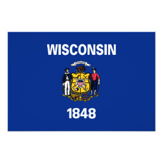 Wisconsin State Flag Photo Print