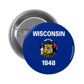 Wisconsin State Flag Pinback Button