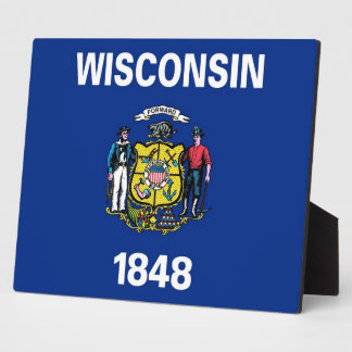 Wisconsin State Flag Plaque