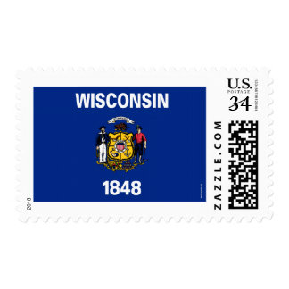 Wisconsin State Flag Postage