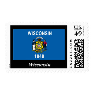 Wisconsin State Flag Postage Stamp