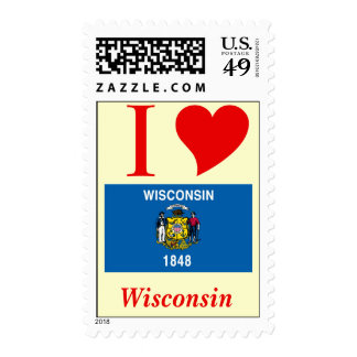 Wisconsin State Flag Stamps