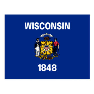 Wisconsin State Flag Postcard