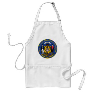 Wisconsin state flag seal united america country r adult apron
