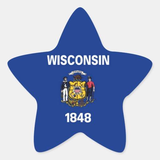 Wisconsin State Flag Star Sticker