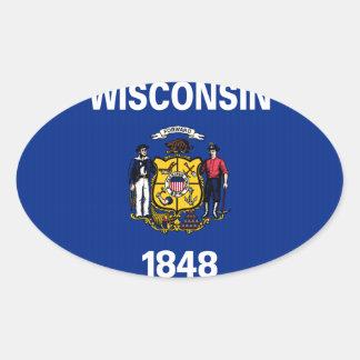 Wisconsin State Flag Sticker