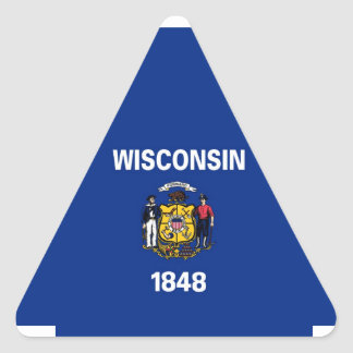 Wisconsin State Flag Triangle Sticker