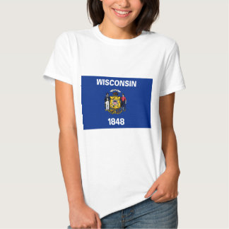 Wisconsin State Flag T Shirt