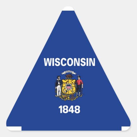 Wisconsin State Flag Triangle Sticker