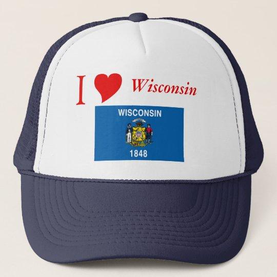 Wisconsin State Flag Trucker Hat