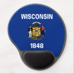 "wisconsin state flag united america republic symbo gel mouse pad<br><div class=""desc"">wisconsin state flag united america republic symbol</div>"
