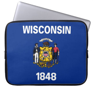 wisconsin state flag united america republic symbo laptop sleeve
