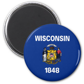 wisconsin state flag united america republic symbo magnet