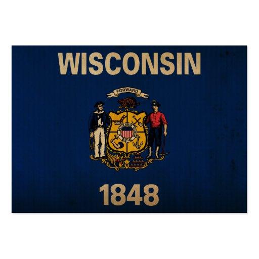 WisconsinState Flag VINTAGE Business Cards