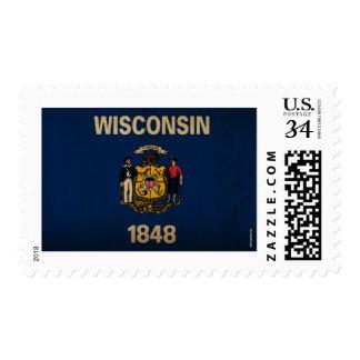WisconsinState Flag VINTAGE Postage Stamps