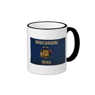 WisconsinState Flag VINTAGE Ringer Mug