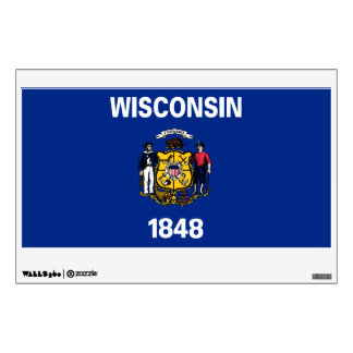 Wisconsin State Flag Wall Sticker