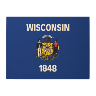 Wisconsin State Flag Wood Wall Decor