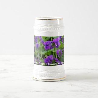 Wisconsin State Flower: Wood Violet Mug