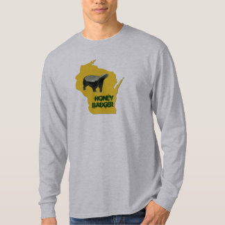 Wisconsin State Honey Badger Funny T-Shirt