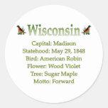 Wisconsin State Info Sticker