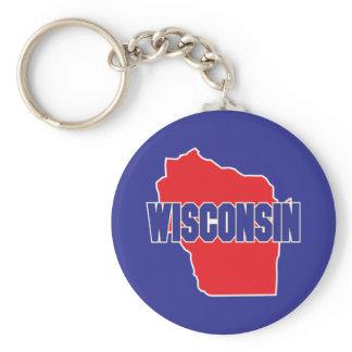 Wisconsin State Keychain