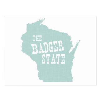 Wisconsin State Motto Slogan Postcard