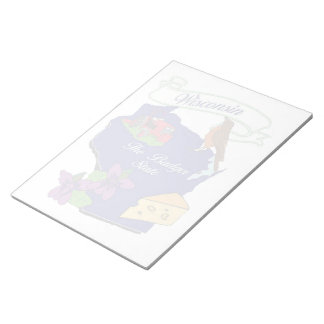 """Wisconsin State Notepad  11x8.5"""""""