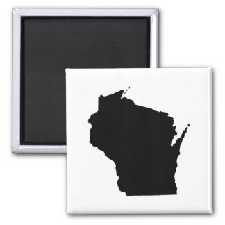 Wisconsin State Outline 2 Inch Square Magnet