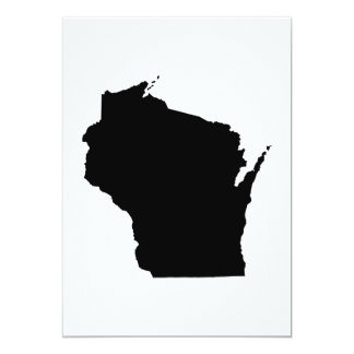 Wisconsin State Outline 5x7 Paper Invitation Card