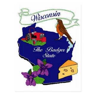 Wisconsin State Postcard