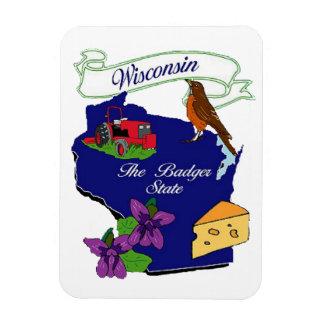 Wisconsin State Premium Magnet 3x4