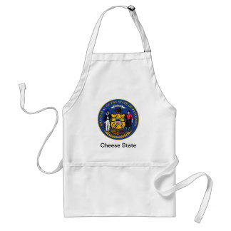 Wisconsin State Seal and Motto Adult Apron