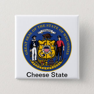 Wisconsin State Seal and Motto Button
